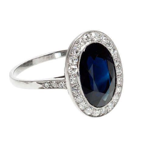 cartier royal blue sapphire  diamond platinum ring ca