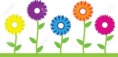 Five Clipart Cartoon Flower