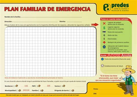 plan de emergencias familiar que hacer en caso de sismo o terremoto organice a su familia