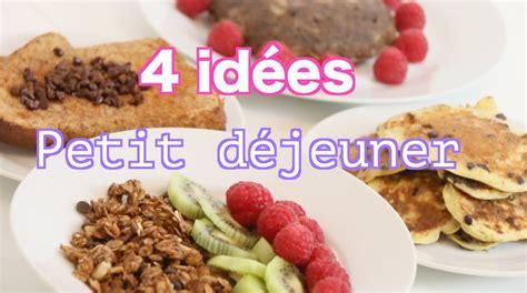 Rééquilibrage Alimentaire  4 Idées De Petit Déjeuner