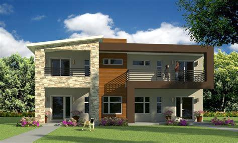 House Design Plans by Modern Duplex House Plans Duplex House Design House