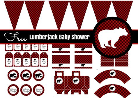 lumberjack baby shower party printable baby shower
