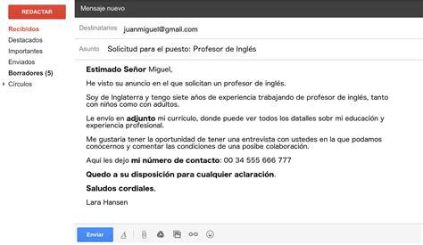 write  email  spanish   native essential vocab