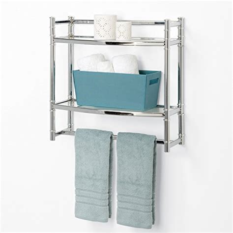 zenna home ss  tier wall mount bathroom shelf