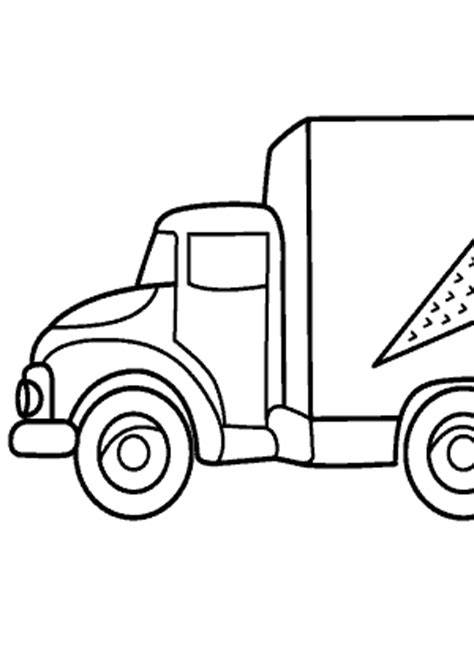 ice cream truck transportation coloring pages  kids printable  coloing kidscom