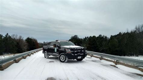 texas parks warden game truck snow state january ice wildlife department don
