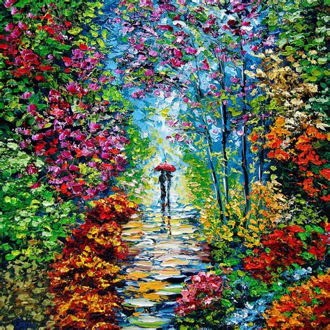 Secret Garden Oil Painting  B Sasik By Beata Sasik