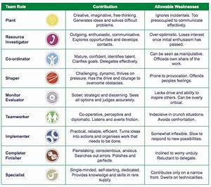 Belbin Chart Knowing Your Team Role Using The Belbin Chart All Round