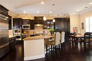 kitchens with dark wood floors 2180