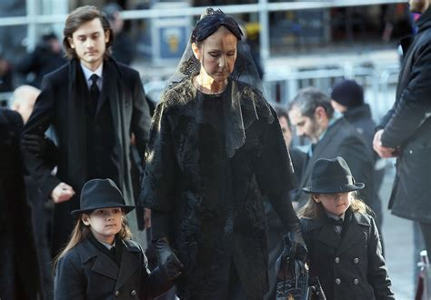 Celine Dion and Sons At Rene Angelil's Funeral ? Images