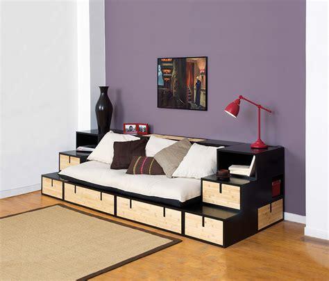 lit mezzanine avec canapé convertible canapés programme brick banquette brick