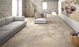 carrelage pierre naturelle beige murs sol accueil design With carrelage pierre naturelle