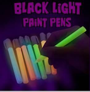 Black Light UV Reactive Neon Paint Pens Set of 5