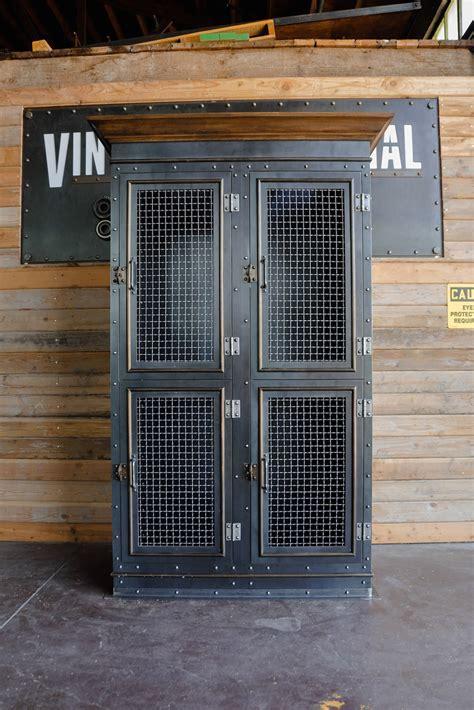 Vintage Industrial Armoire   Vintage Industrial Furniture