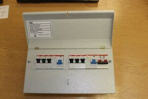 8 way abb 17th edition amendment 3 metal consumer unit 6 mcb 2 rcb and isolator ebay