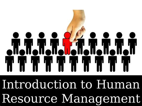 introduction  human resource management