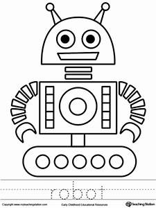 early childhood drawing worksheets myteachingstationcom With see a robot workout