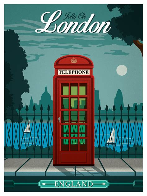 IdeaStorm Studio Store — Vintage London Travel Poster