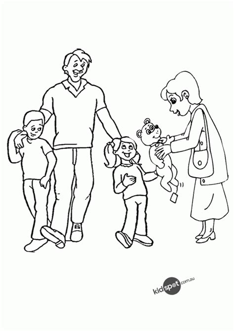 pics  family coloring pages  preschool family