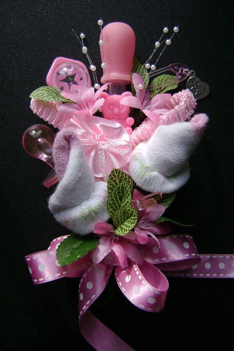 Baby Shower Pins For Corsages Baby Shower Corsage Baby Bootie Corsage New By