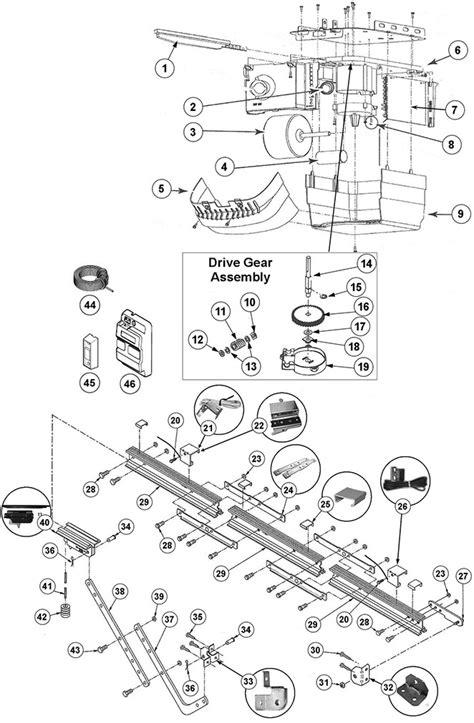 garage door parts supply genie chain glide garage door opener parts guide