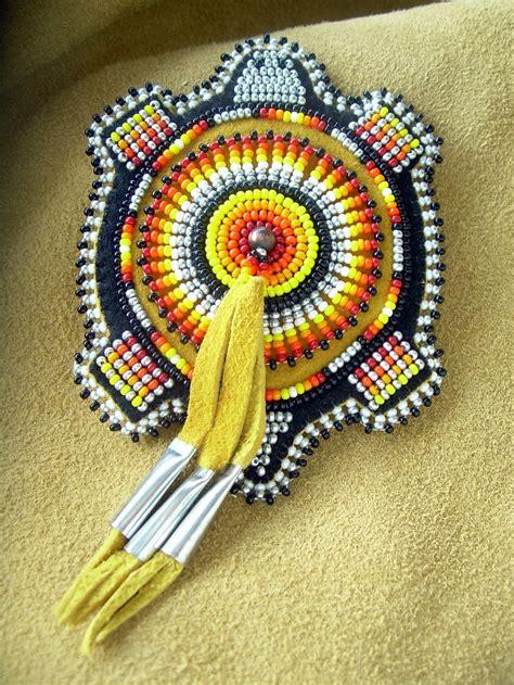 lakota native american beaded turtle magnet beadwork bead work