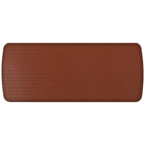 gelpro basketweave comfort floor mat gelpro elite basketweave chestnut 20 in x 48 in comfort