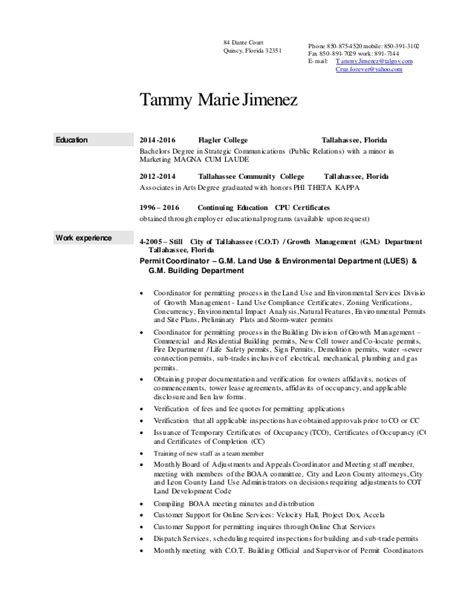 Resumes By Tammy by Tammy Jimenez Resume