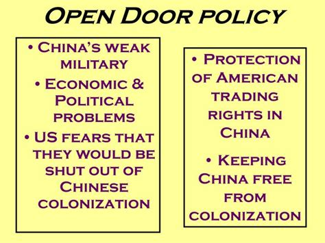open door trading ppt china resists outside influence powerpoint