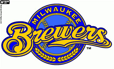 brewers coloring page, printable brewers