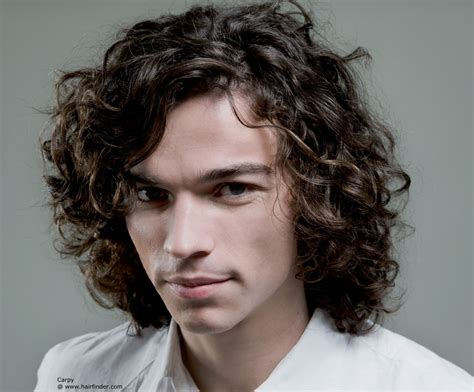 Long hairstyle for men with curls