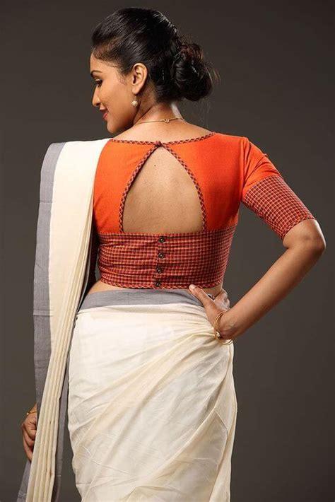 stylish saree blouse  neck designs kurti blouse