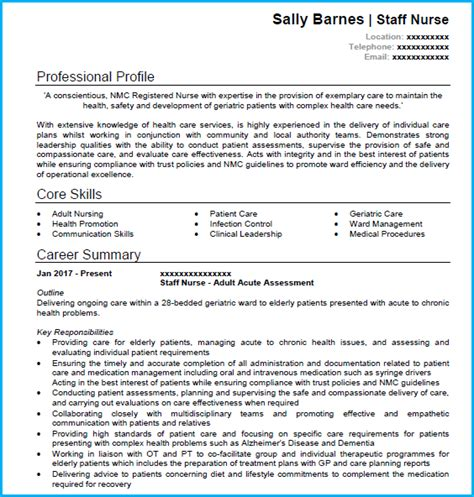 What makes this a great childcare provider resume example? Personal Statement Cv Nurses - Registered Nurse CV Example