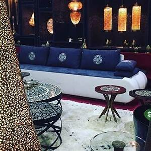 Salon Marocain Blanc : salon marocain moderne blanc bleu home decor pinterest ~ Nature-et-papiers.com Idées de Décoration
