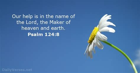 Psalm 124:8 - Bible verse of the day - DailyVerses.net