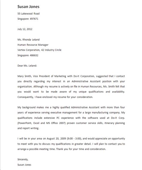 cover letter examples with referral 5 reference letter for friend templates free sample cover