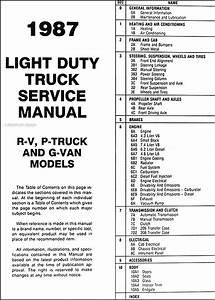 1987 Gmc Repair Shop Manual Original Pickup Jimmy Suburban