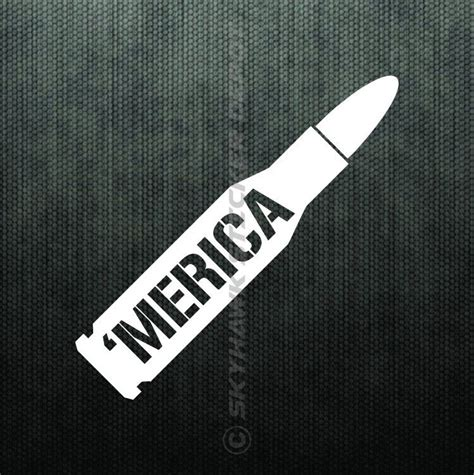 Merica Bullet Bumper Sticker Vinyl Decal America Car Truck. Thoracic Signs Of Stroke. Minimalist Stickers. Industrial Revolution Murals. Cloudy Signs Of Stroke. Ohio Dominican Logo. Basal Signs. Camera Accessory Banners. Toothpaste Signs