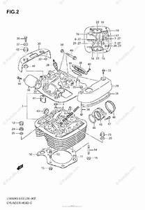 Suzuki Motorcycle 2007 Oem Parts Diagram For Cylinder Head