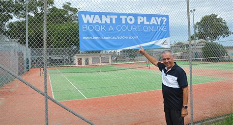 soldiers point tennis club installs  booking system news   area