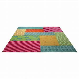 tapis enfant esprit home multicolore patchwork garden 140x200 With tapis enfant esprit
