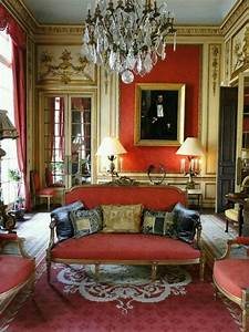 Louis, Xvi, Sitting, Room, In, Red