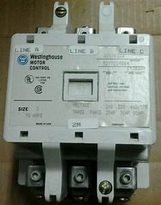 Westinghouse A201k3ca 120v Coil 50hp 90a Size 3 Contactor