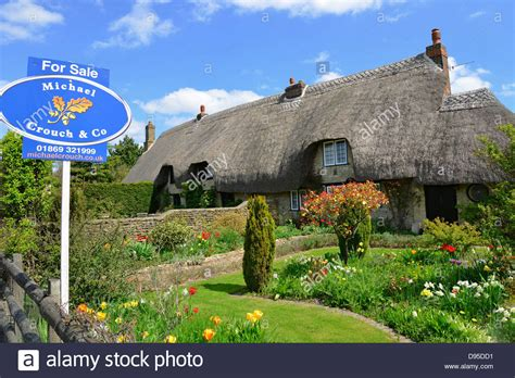 Thatched Cottage For Sale Sign Newton Purcell