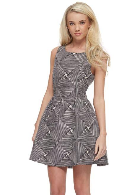 skater monochrome mini dress dress casual stylish day dress