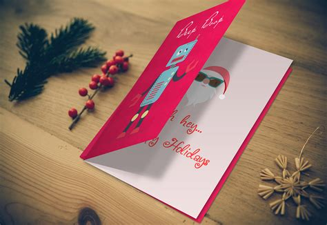greeting card mockup photoshop psd template display