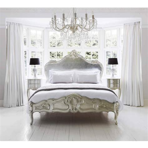 Sylvia Serenity Silver French Bed  Luxury Bed