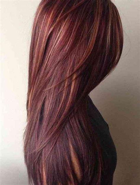 balayage auburn sur cheveux chatain