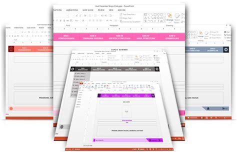 background powerpoint template presentasi sidang skripsi