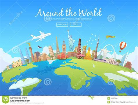 Around The World Stock Vector Illustration Of Summertime